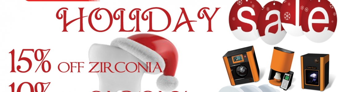 Kerox Holiday Sale! 15% off zirconia and 10% off all CAD/CAM machines