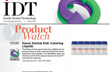 Kerox Dental's E4K Coloring Liquids Featured In IDT