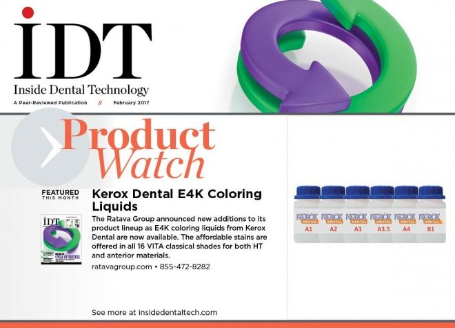 Kerox Dental's E4K Coloring Liquids Featured In IDT