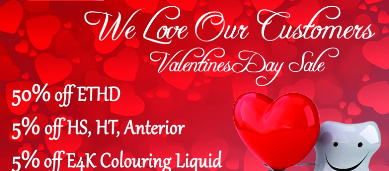 We Love Our Customers Valentines Day Sale !!